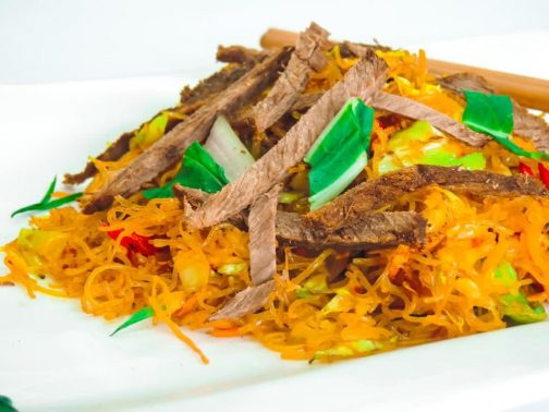 Singaporean beef noodles
